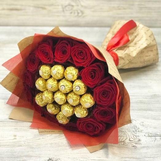 Розы с конфетками