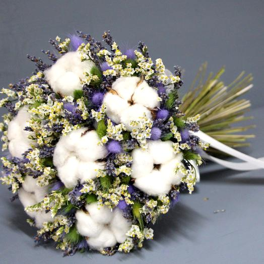 "Букет из сухоцветов ""ЛАВАНДОВЫЙ"": букеты цветов на заказ Flowwow"
