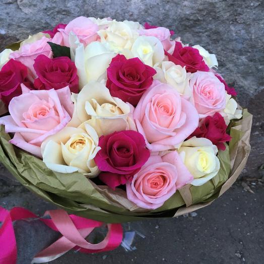 Ароматный сбор французских роз: букеты цветов на заказ Flowwow