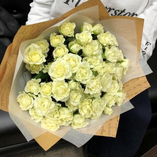 Кустовые розы. Монобукет.  N73: букеты цветов на заказ Flowwow