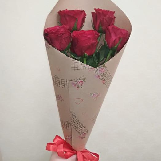 Букет из роз крафт: букеты цветов на заказ Flowwow