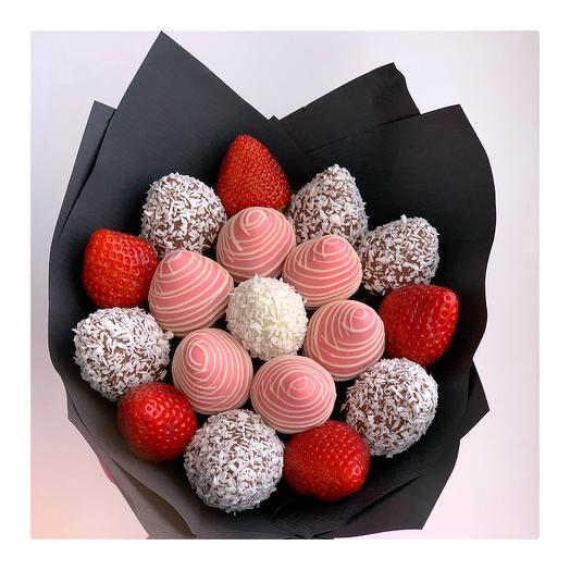 Букет из клубники в шоколаде: букеты цветов на заказ Flowwow