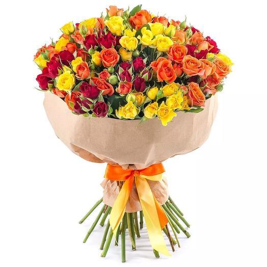 "Букет из кустовых роз ""Аделаида"": букеты цветов на заказ Flowwow"
