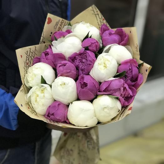 Ароматные пионы микс: букеты цветов на заказ Flowwow