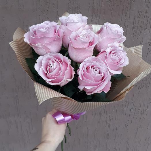 Букет из нежно розовых роз: букеты цветов на заказ Flowwow