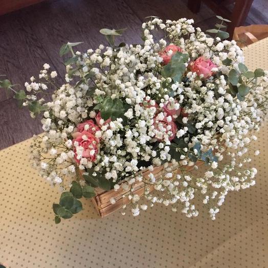 Сделать свадебный, большие букеты роз с гипсофилой
