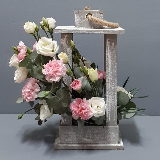 Цветочный фонарик: букеты цветов на заказ Flowwow