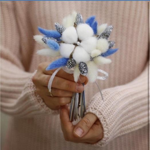 Мини-букет из сухоцветов