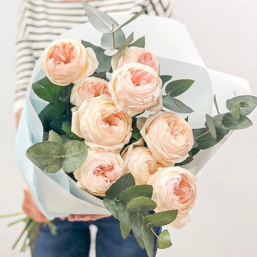 Ароматная пионовидная Роза Эмма: букеты цветов на заказ Flowwow