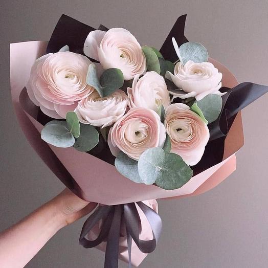 """Букет из ранункулюса """"Розовая дымка"""""""": букеты цветов на заказ Flowwow"""