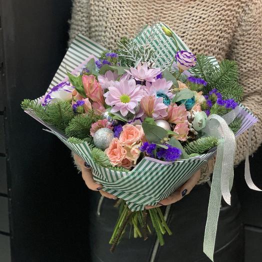 Новогодняя сказка: букеты цветов на заказ Flowwow