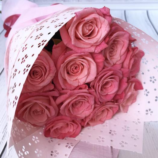 Букет из роз «Зефирка»: букеты цветов на заказ Flowwow