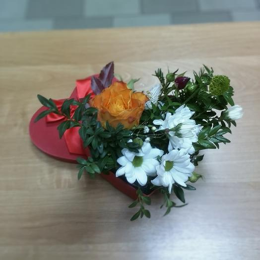Сердечко: букеты цветов на заказ Flowwow