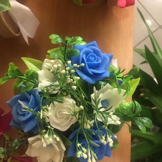 Голубое облачко,, Мыло ручной работы: букеты цветов на заказ Flowwow