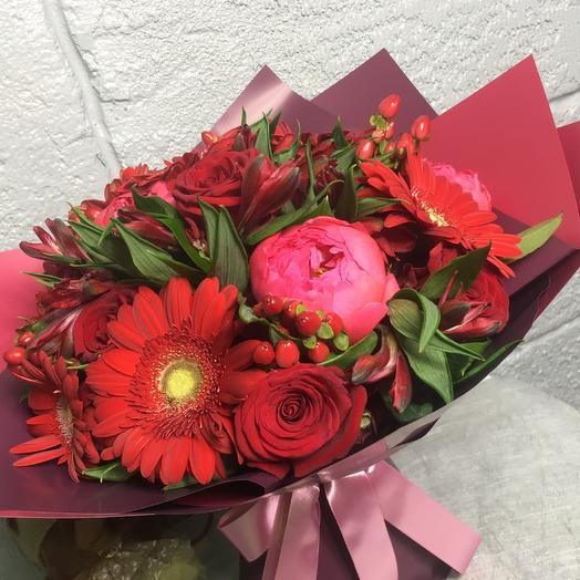 Букет Красный Блюз: букеты цветов на заказ Flowwow