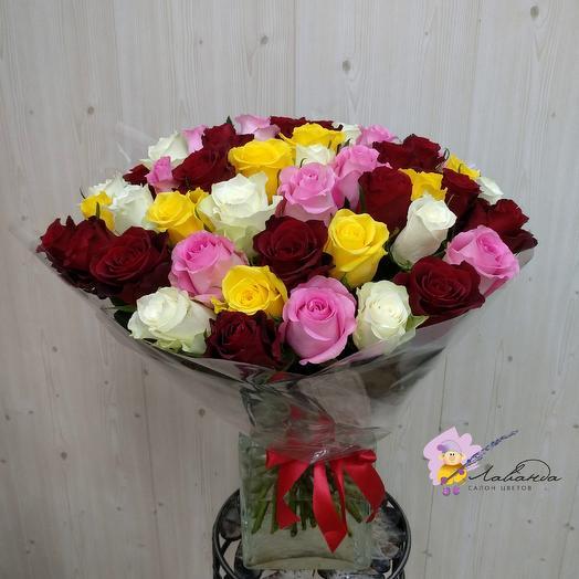 Летний микс 45 роз