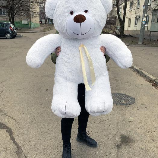 Плюшевий ведмедик 130 см білий