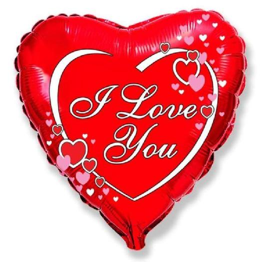 "Шар сердце ""I Love You"""