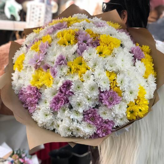 Букет гигант из хризантем
