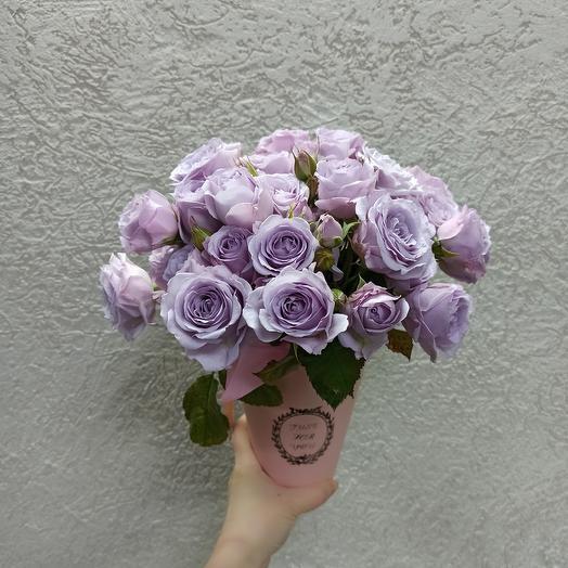 Ароматные розы в коробке
