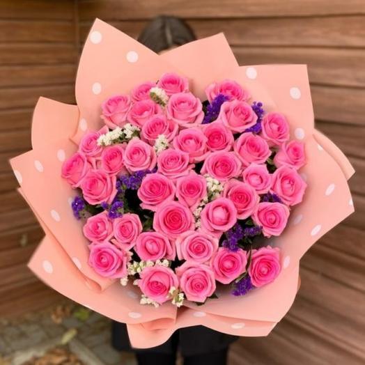 Моно букет из роз Ревиваль