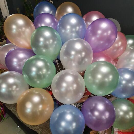 Воздушные перламутровые шарики