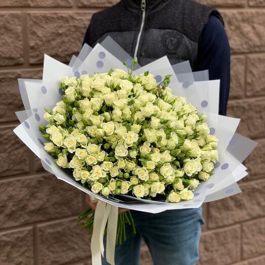 Кустовая роза 51ветка