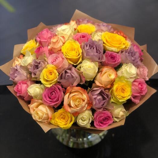 Букет микс 45 роз