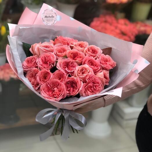 Моно букет пионовидных роз