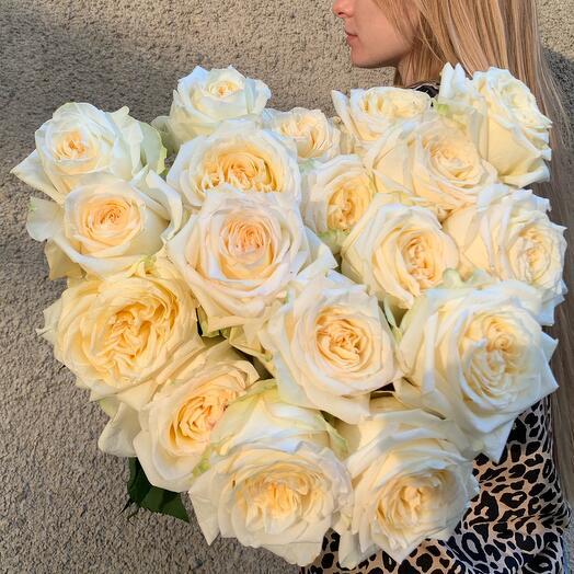 Моно букет из сортовой Розы Candlelight