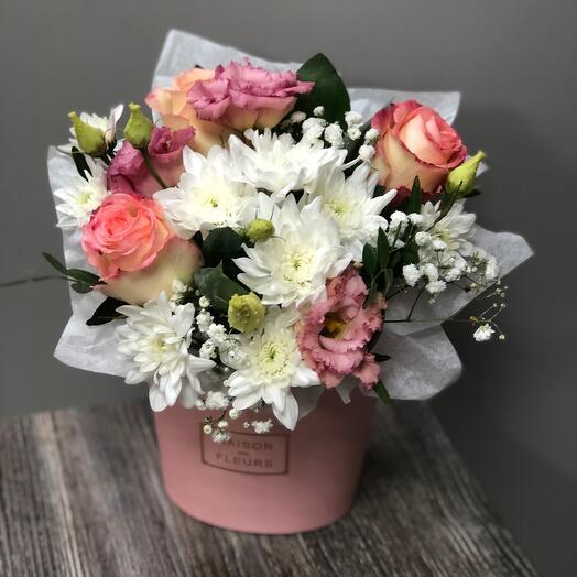 Полубокс с цветами