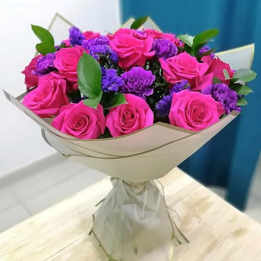 Букет розы и лунная гвоздика