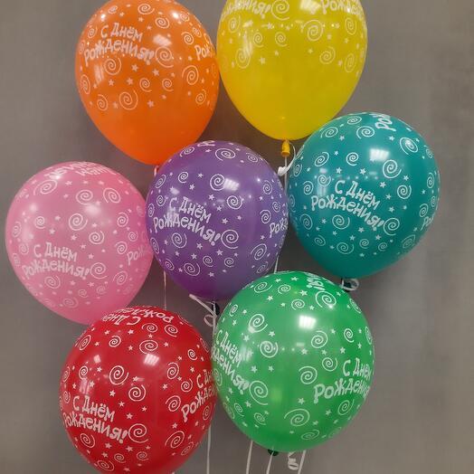 Набор шаров с Днем рождения