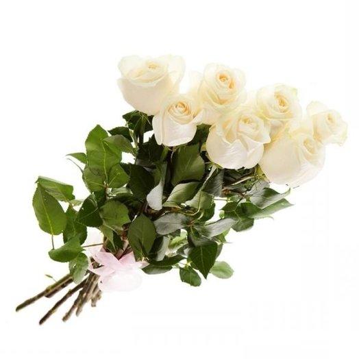 7 Белоснежных роз