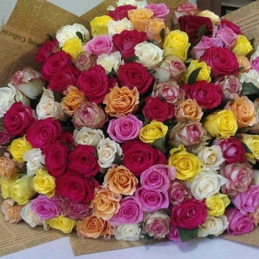 Букет 101 роза Французский микс