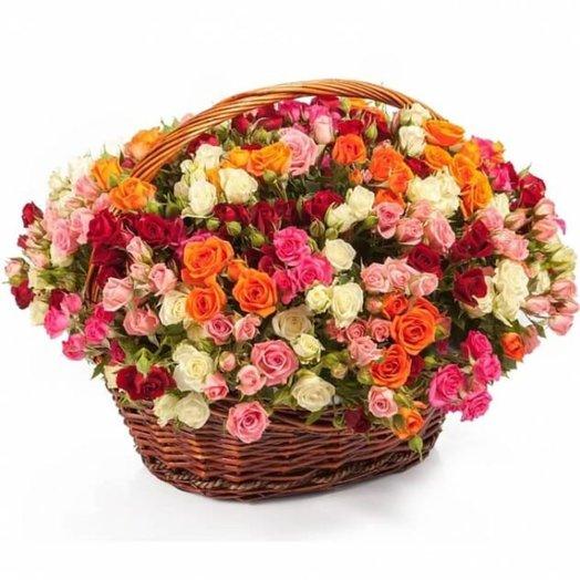 101 кустовая роза: букеты цветов на заказ Flowwow