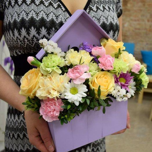 Цветочный домик: букеты цветов на заказ Flowwow