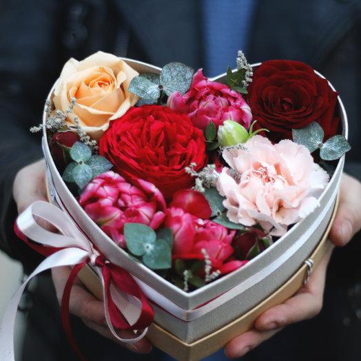 LIGHT: Сердце: букеты цветов на заказ Flowwow