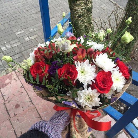 Букет Просто подари: букеты цветов на заказ Flowwow
