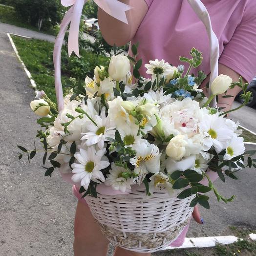 Корзина полевая: букеты цветов на заказ Flowwow