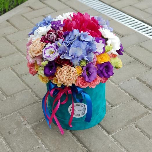 Бархатная коробочка микс цветов)