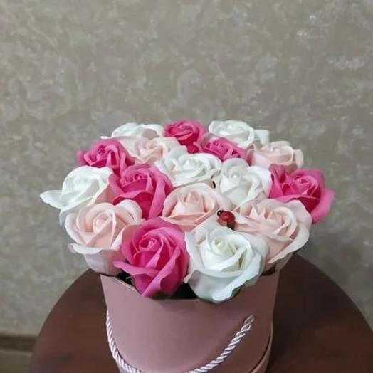 Нежность.Роза из мыла: букеты цветов на заказ Flowwow