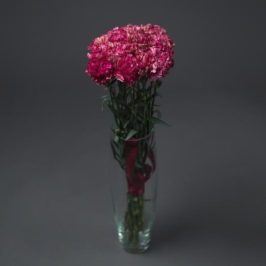 """Букет """"15 Фиолетовых Гвоздик"""": букеты цветов на заказ Flowwow"""