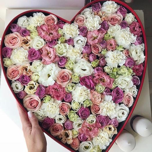 Big heart: букеты цветов на заказ Flowwow