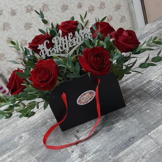 Playm package with red rose