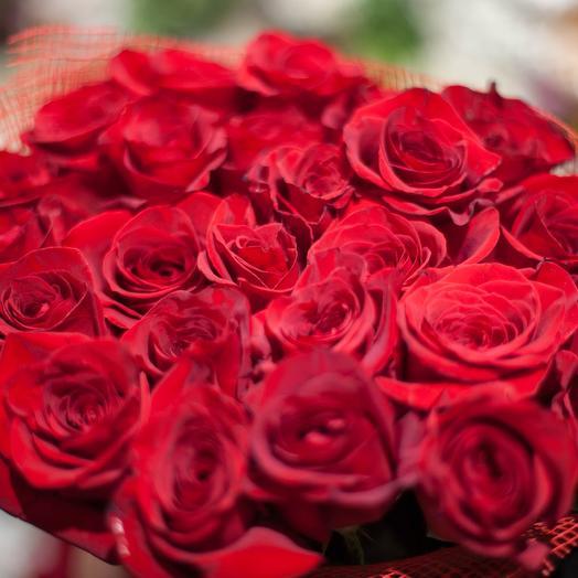 31 Красная роза 100 см