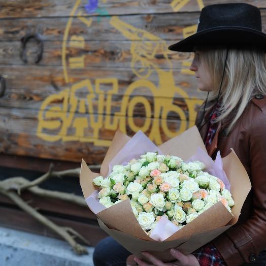 Букет кустовых роз 39шт: букеты цветов на заказ Flowwow