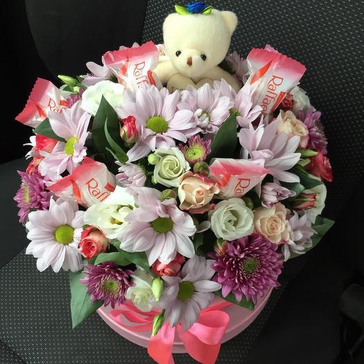 Цветы в коробке 55
