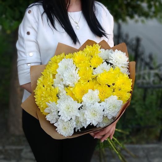 Радость🤗 хризантемы кустовые желтые и белые