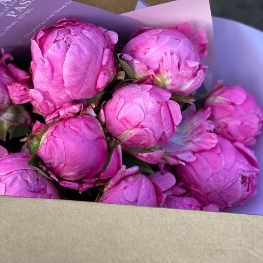 Моно букет из пионов: букеты цветов на заказ Flowwow